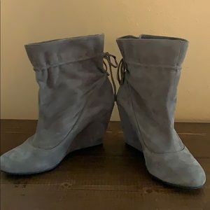 BCBGeneration slouchy suede wedge bootie